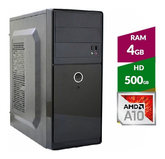 Pc Amd A10 9700 Bristol Ridge + Hd 500gb + 4gb Ddr4 2400mhz
