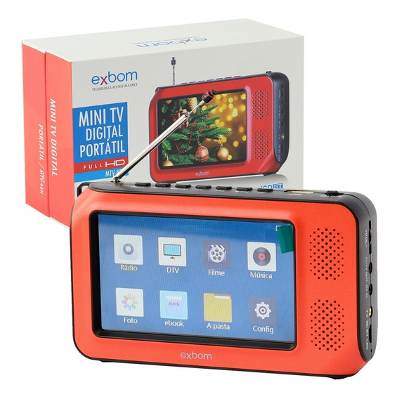Mini Tv Digital Portatil Videos Fotos Filmes Radio Fm Tf E91