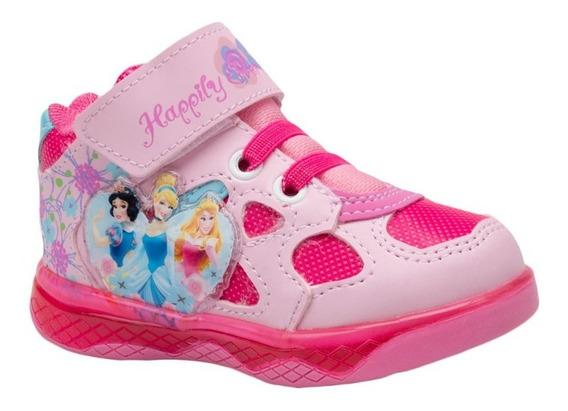 Tenis Casual Bota Princesas 0603 Rosa Niña 136266