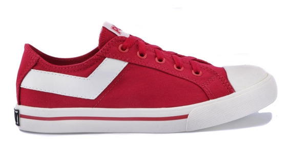 Pony Shoter Canvas Ox Canvas Rojo/blanco