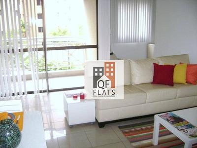 Flat Com 1 Dormitório Para Alugar, 58 M² Por R$ 1.900/mês - Jardim Ampliação - São Paulo/sp - Fl1607