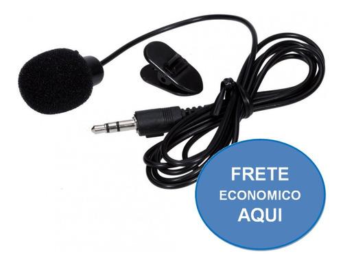 Mini Microfone Lapela 3.5mm Stéreo Youtubers .