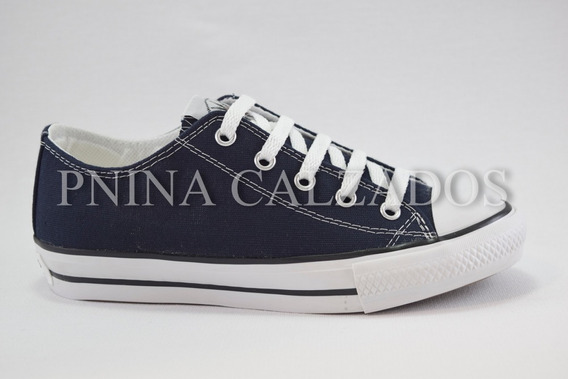 Zapatilla Simil All Star Color Azul Marino Roller 35 Al 40