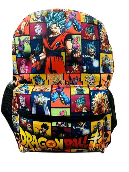 Mochila Escolar De Costa Dragon Ball Tamanho G