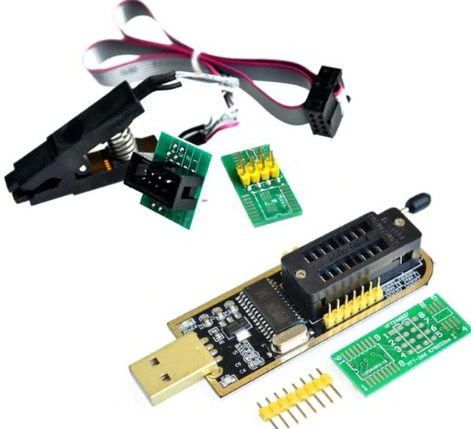 Kit Gravador Leitor Eprom + Pin?a + Soic8 Sop8