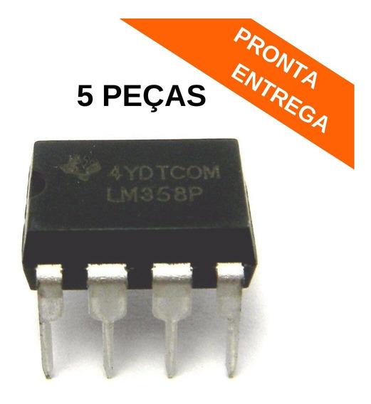 Lm358p Circuito Integrado (ci) Dip-8 Texas Original (5 Peças