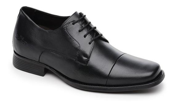 Sapato Samello Elevator Santis Preto 11.008