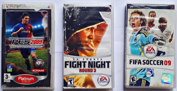 Kit Jogos Fifa Fight Night Round 3 Pes Psp Lote Frete Grátis