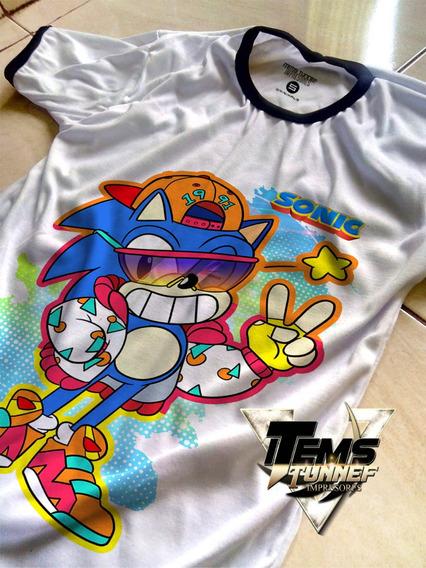 Playera Sonic Pelicula Juego Anime Calidad Alta Mayoreo S7