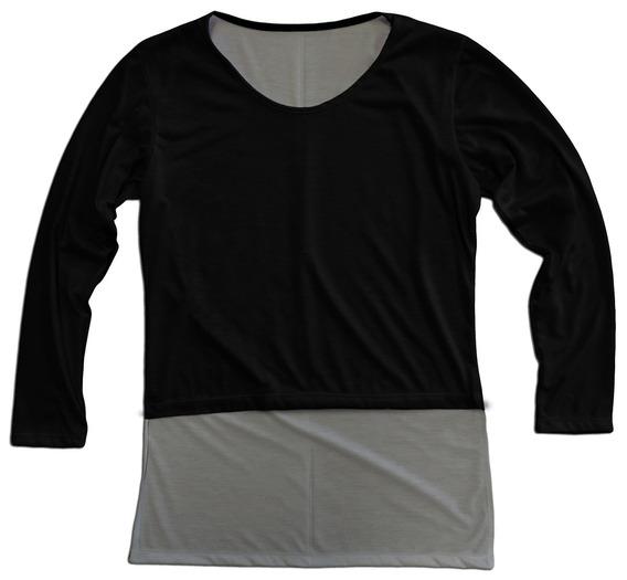 Blusa Camiseta Feminina Longline Long Line Costa Alongada