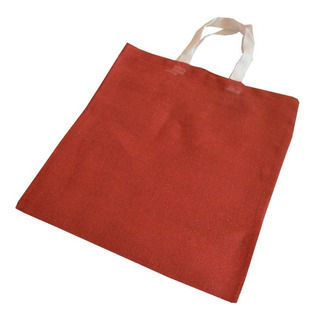 Bolsas Yute Con Asa Color Marron Ecológica 10 Pzs 35cmx 40cm
