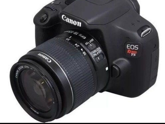 Camera Canon Eos Rebel T5 Ef-s 18-55mm + Bolsa Acolchoada