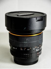 Rokinon 8mm F/3.5 Hd Fisheye Cs Nikon Parasol Removivel