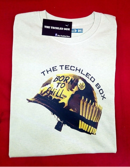 Playera Marca The Techled Box. Modelo: Born To Chili.