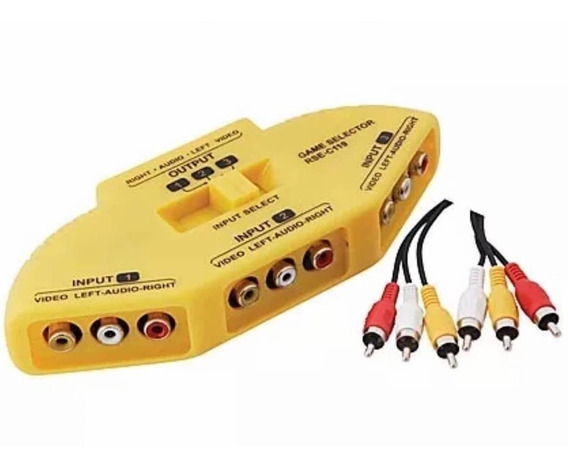 Chave Seletora Audio Video - Chaveador Cabo Rca Frete 9,90