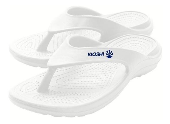 Ojotas Kioshi Flip Flops Blanco Azul Men