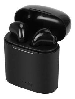 Audifonos Negros Bluetooth Con Estuche Cargador Tws AirPods