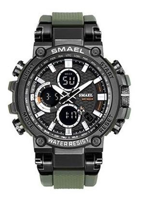Relógio Masculino Smael 1803 Verde \ Caixa \ Original \ Top