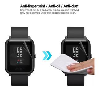 Kit 4 Película Protetora Tpu Relógio Gps Xiaomi Amazfit Bip