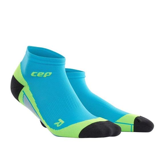 Meia Cep Low Cut Masculino Tamanho V Azul Claro/verde