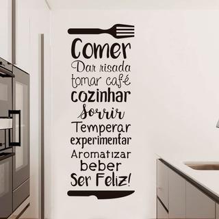 Adesivo De Parede Frase Decorativa Cozinha 100 X 37 Cm