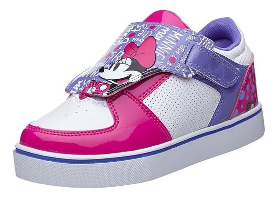 Heelys Twister Minnie Mouse X2. Tenis Con Ruedas Para Niñas