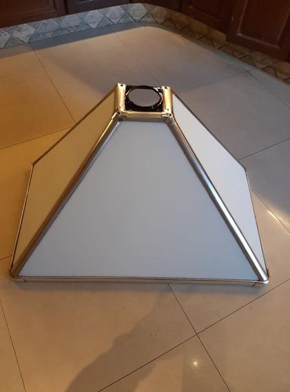 Campana De Cocina Vintage Vidrio/aluminio/hierro (excelente)