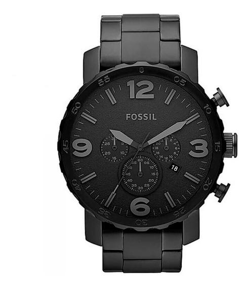 Relógio Fossil Jr1401 Masculino Caixa 50mm Cor Preto Aço 100% Original C/ Nota Fiscal + Garantia + Brinde Promoção