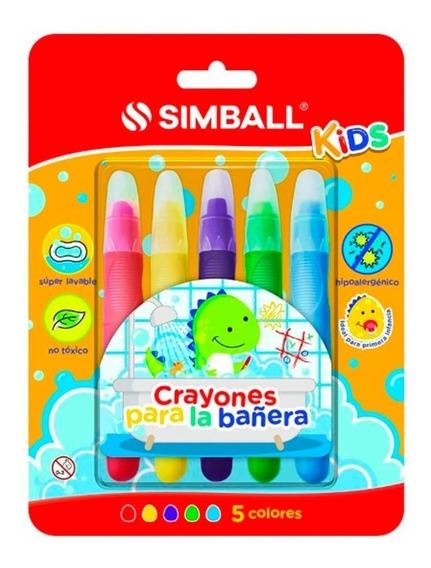 Crayones Para La Bañera 5 Colores - Simball Kids