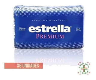 Estrella Algodon Premium X 150gr X 6 Unidades