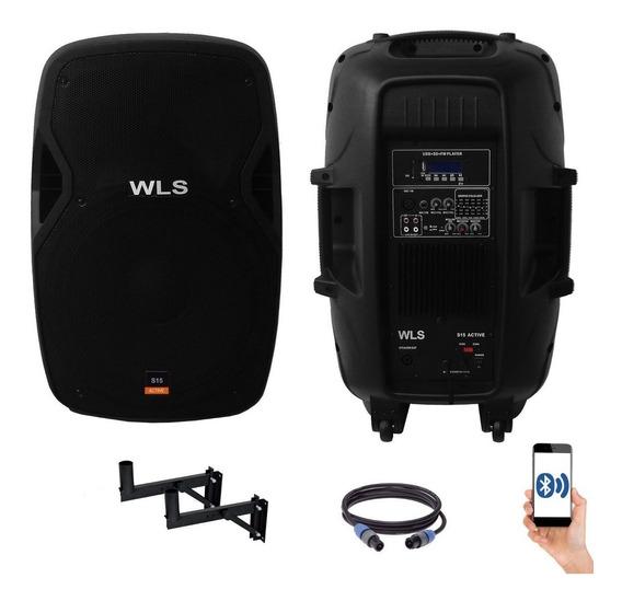 Caixa Ativa Wls S15+passiva 250wrms Eq Bluetooth Usb Xlr P10