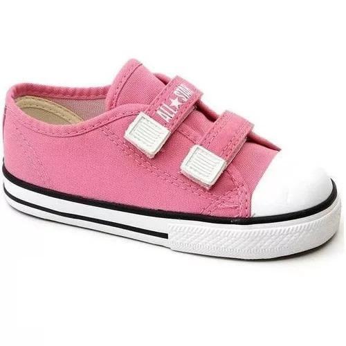 Converse All Star Infantil Rosa Velcro - Ck0508