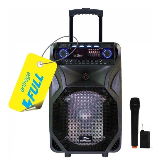 Caixa Som Portátil Amplificada Bluetooth 400w Thunder Black