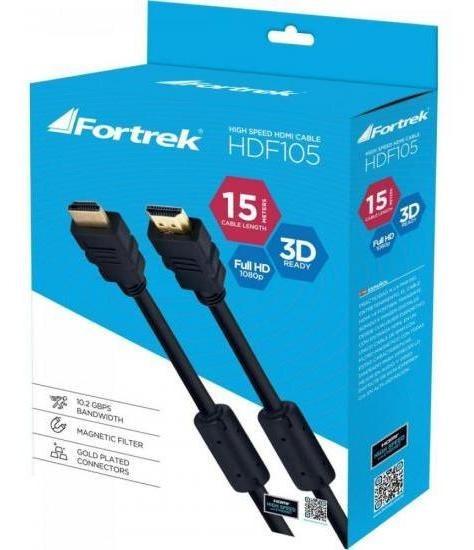 Cabo Hdmi 1.4 3d Com Filtro Hdf-105/15m Preto Fortrek