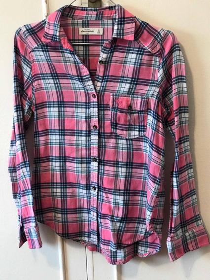 Camisa Escosesa Abercrombie De Niña Talle 8 Usa - 5073