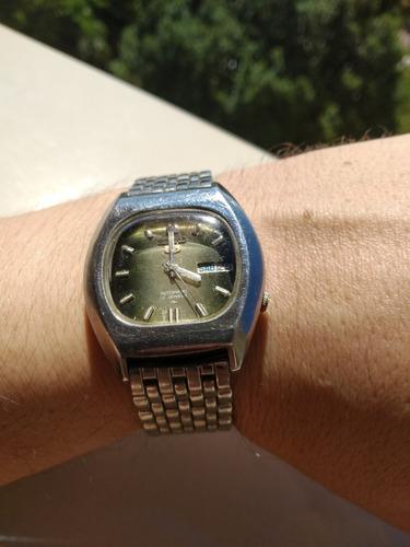 Maravilhoso Relógio Seiko 7009-5070 Automatic Verde Metálico