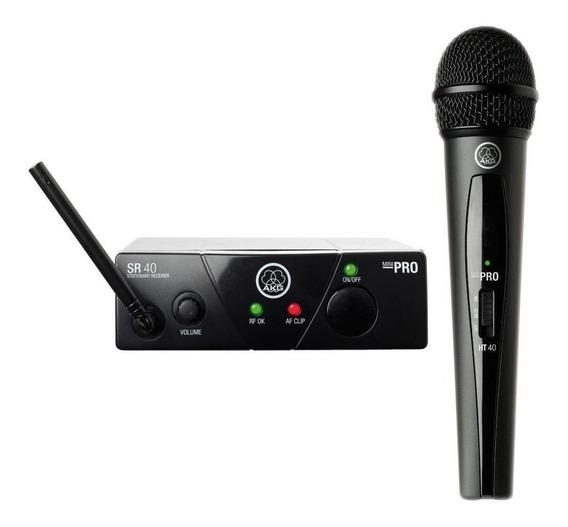 Microfone com acessórios AKG WMS40 Mini Vocal dinâmico preto