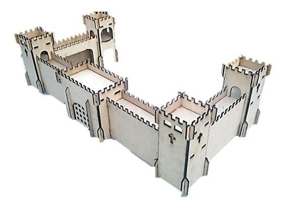 1 Castelo Medieval Em Mdf Para Lego, Playmobill