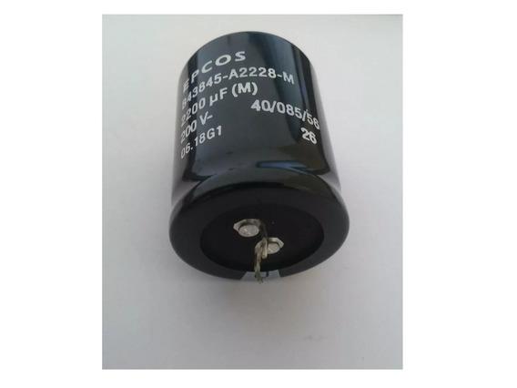 2 Capacitor Eletrolitico Epcos 2.200uf 200v