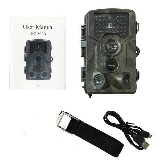 Armadilha Câmera Trilha Com Visor Lcd Hc-800a Pronta Entrega