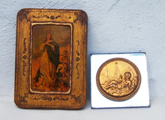 Historical*- 2 Antiguos Cuadritos Religiosos Italia - Envío