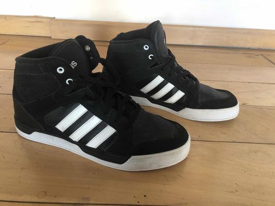 Botas Negras Rayas Blancas adidas Neo Raleigh Originales