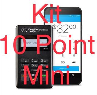 Kit 10 Maquina Cartão Point Mini R$12 Fretegrátis 12xs/juros