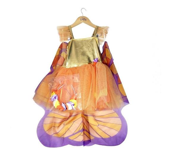 Disfraz Mariposa Witty Girls Anna Vestido Fantasia