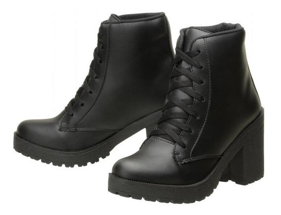 Bota Feminina Salto Alto Ankle Boot Cano Curto Verniz 030