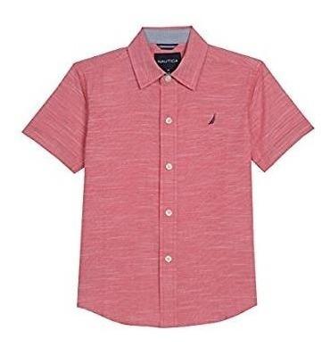 Nautica Camisa Manga Corta Infantil L (7)