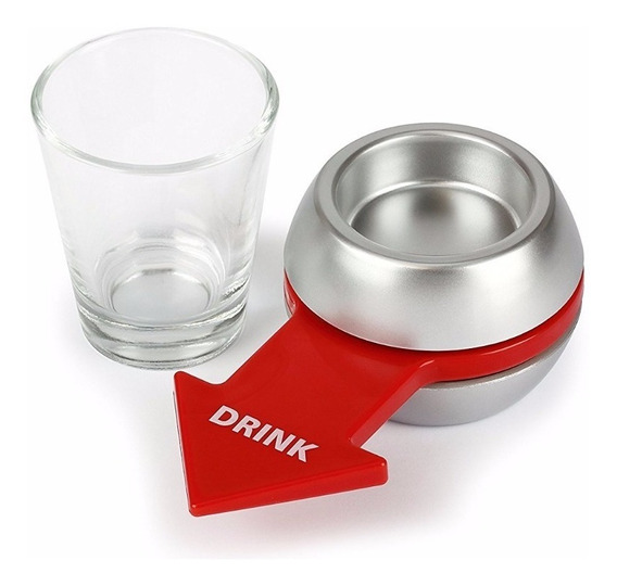 Shot Spinner + Copo Dose Tequila Whisky Vodka Drink Game