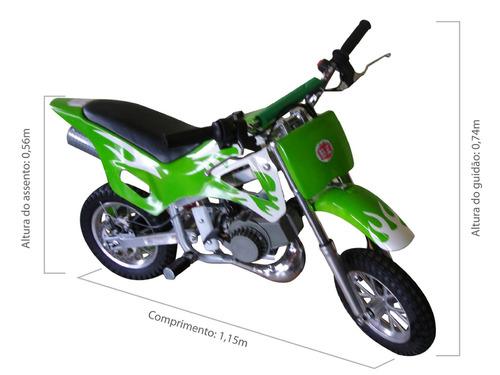 Mini Moto Cross 2 Tempos Infantil Bz Fire 49cc Barzi Motors