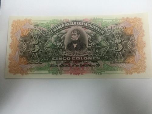 Imagen 1 de 2 de Billetes De Costa Rica, Colección, No Circuló. Vhcf
