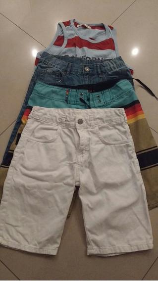 Pack 3 Bermudas, 1 Musculosa , (talle 10, Zara,reff, Wanama)
